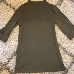 Cute long sleeve Nordstrom green tunic dress
